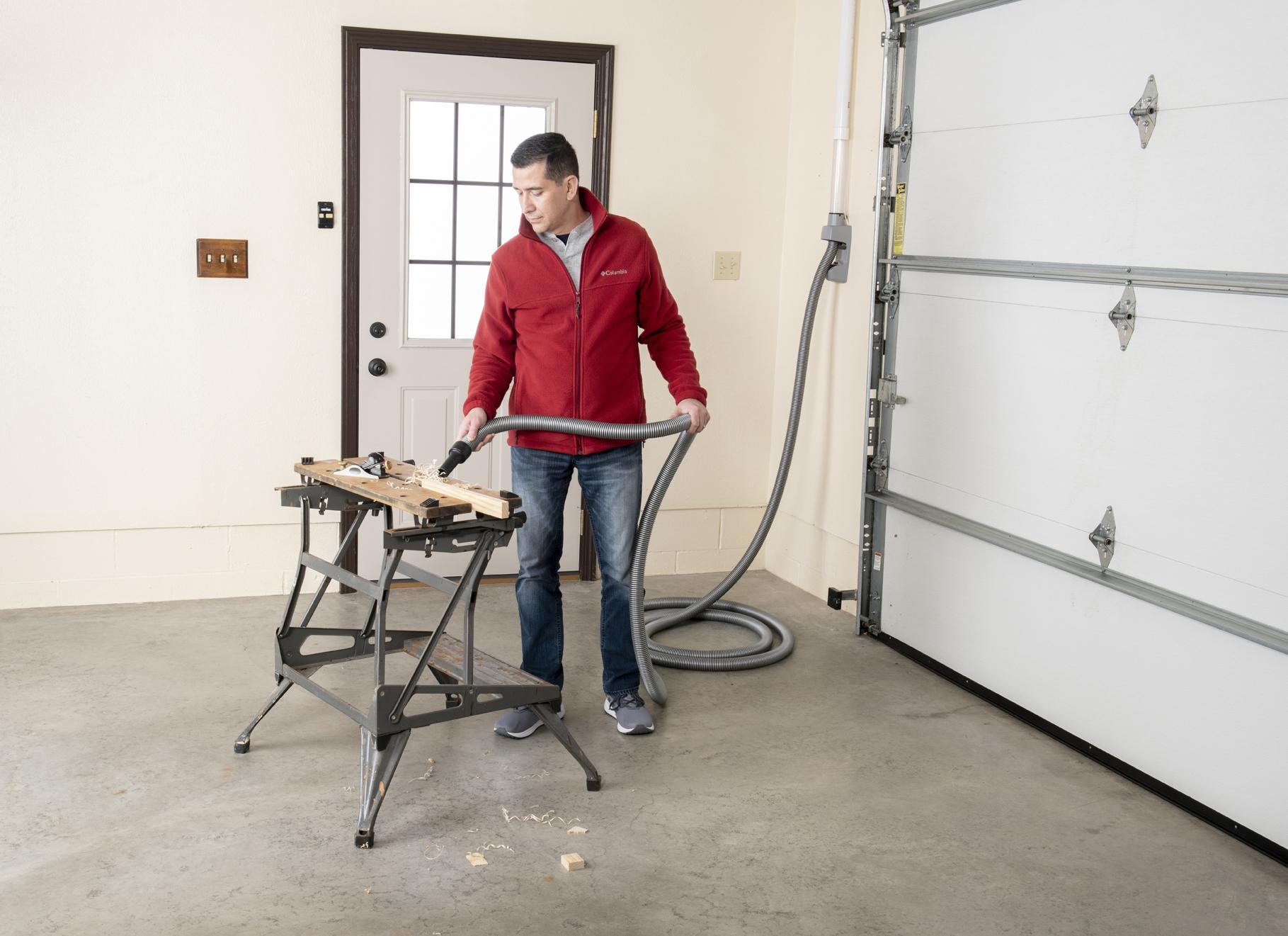 Built-In Vacuum System in Garage | VacuuPro